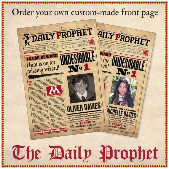 Set Of 34 Harry Potter The Daily Prophet /& Maps Prop//Replica Prints /> 5X7 Each