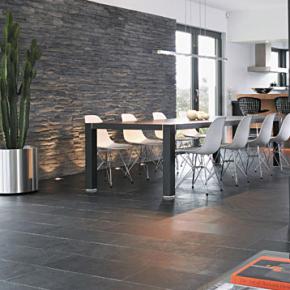 Schiefer Wandverkleidung  Wz  Paris living rooms Living room designs und House design
