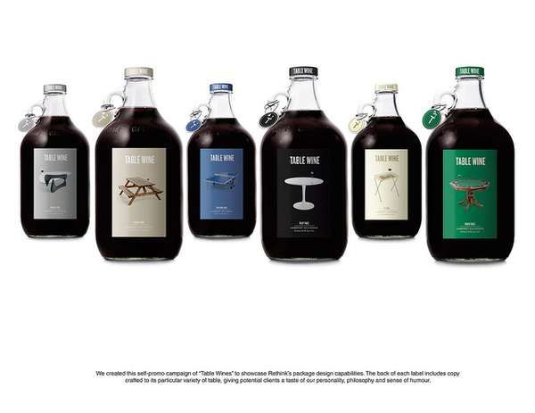 Clever Wine Labels from Rethink Communications #wine #design trendhunter.com