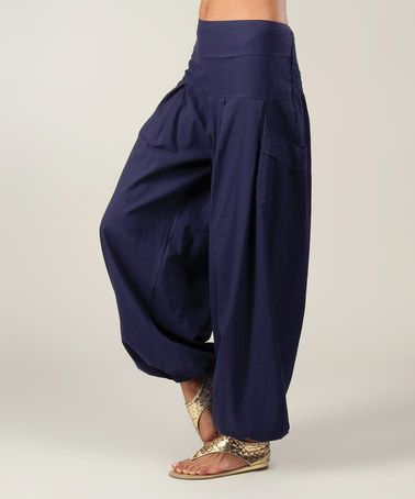 Photo of Love this Navy Flow Harem Pants by Aller Simplement on #zulily! #zulilyfinds