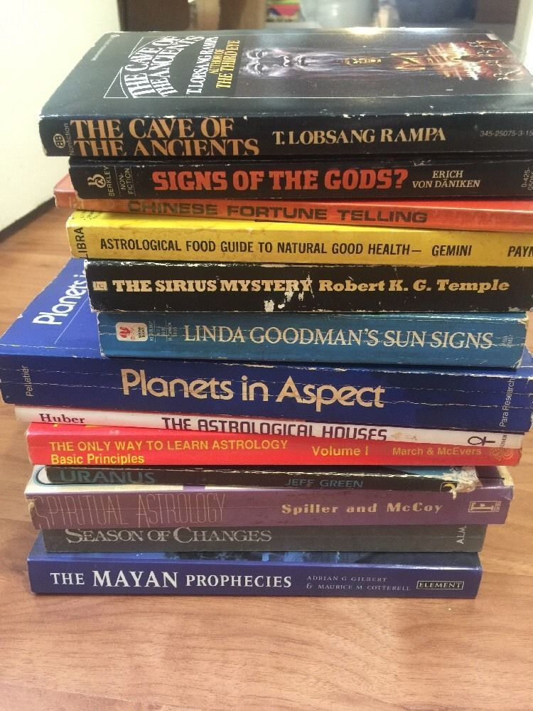 Astrology Books Lot of 13 Learn Astrology Astrological Houses | eBay