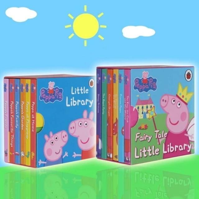Peppa Pig Set Of 12 Mini Board Books 9x9cm 30 For Alllittle