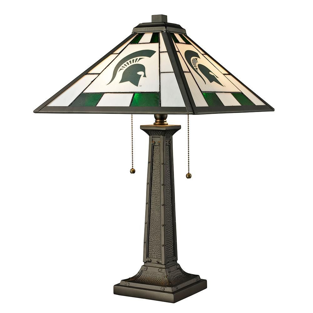 Michigan State Spartans Ncaa Tiffany Desk Lamp Glass Table Lamp