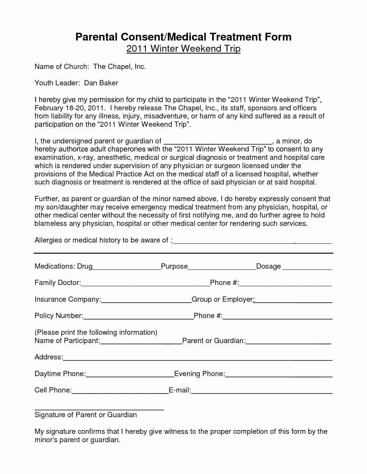 Parental Consent Forms Template Inspirational Notarized Medical Consent Form For Minor Consent Forms Travel Consent Form Parental Consent