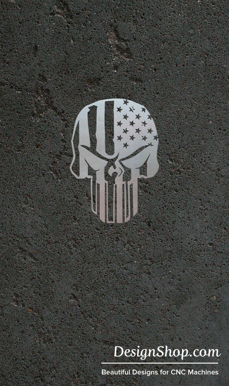 Plasma Cut Punisher Skull