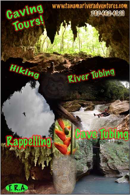 Tanama River Adventures, Puerto Rico.  River Tubing, Cave Tour, Hiking, Cave Tubing, Rappelling.