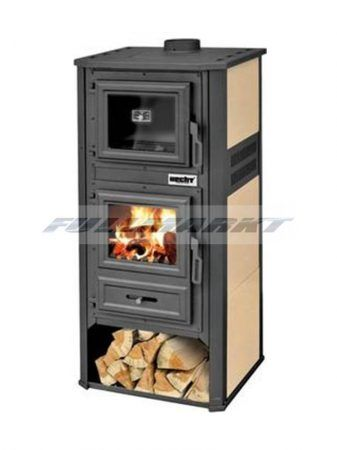 Solid fuel stove with oven function, 10-12 kW, HECHT IGN …
