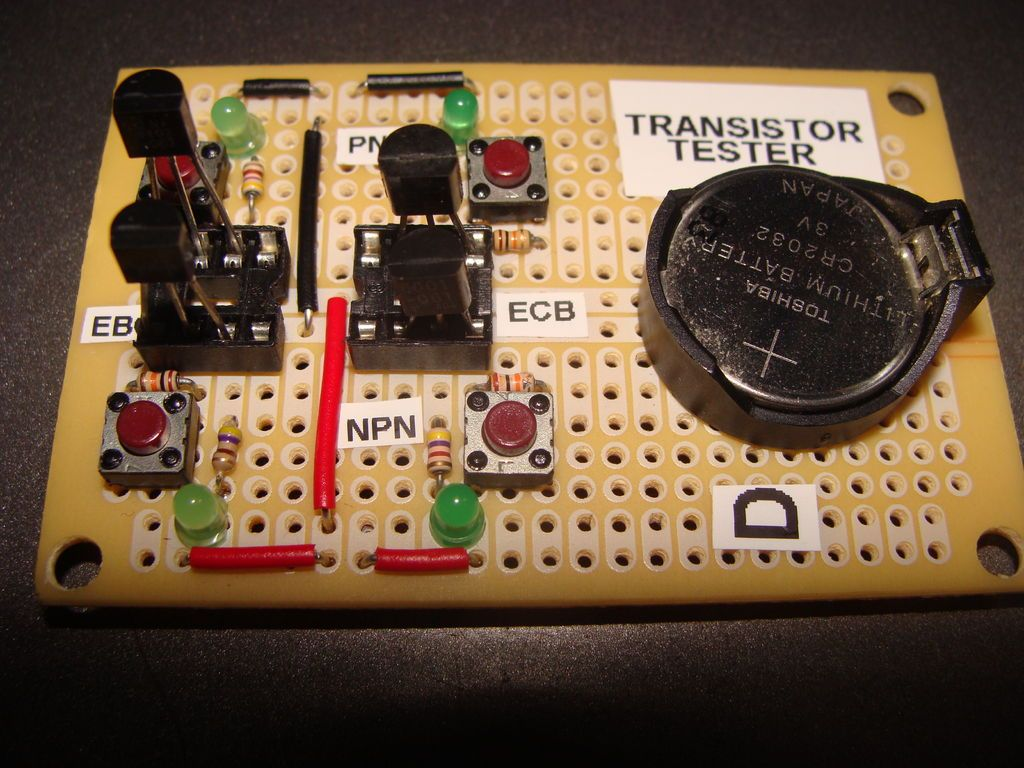 Transistor Tester | Electronics projects and Layouts