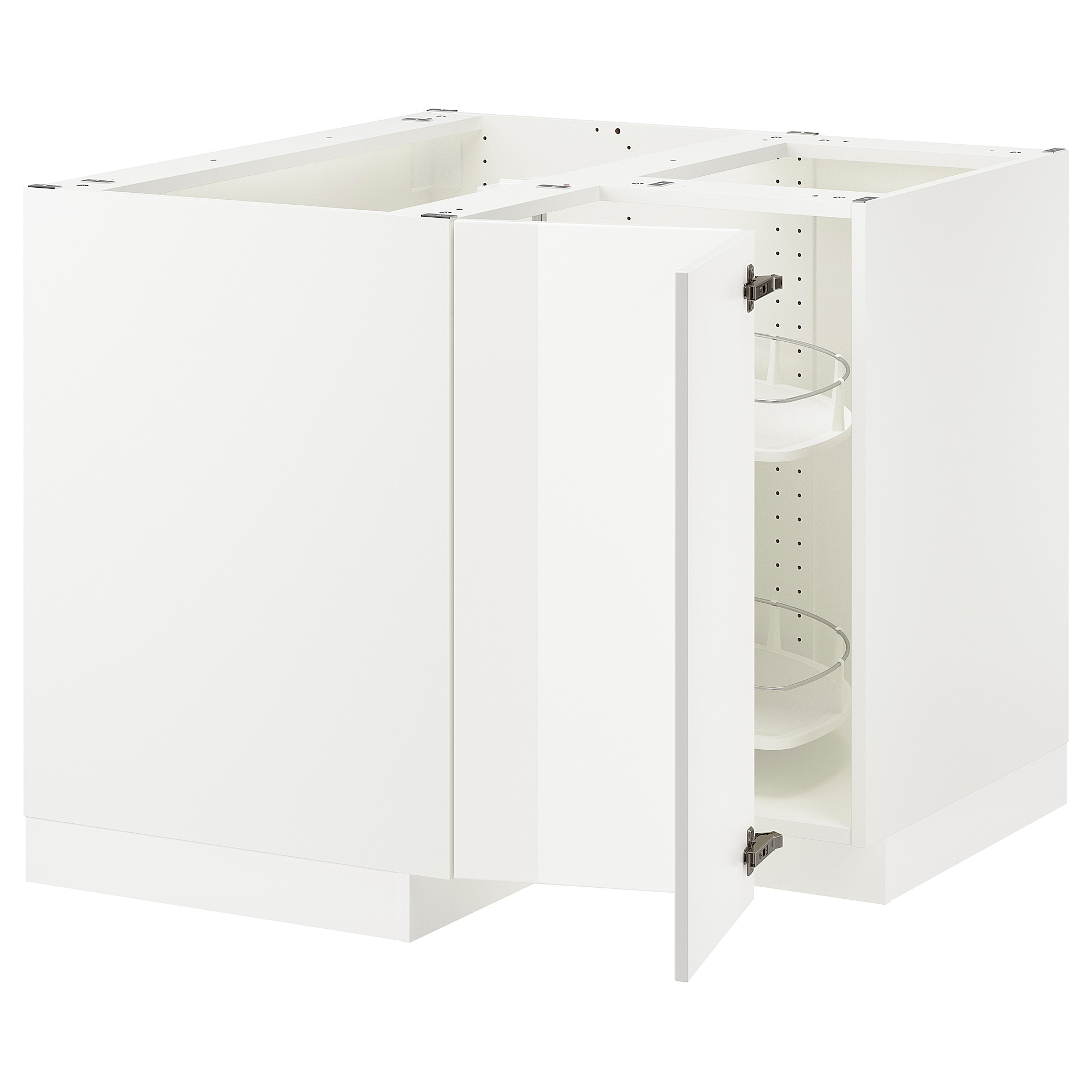 Best Sektion Corner Base Cabinet With Carousel White Axstad 640 x 480