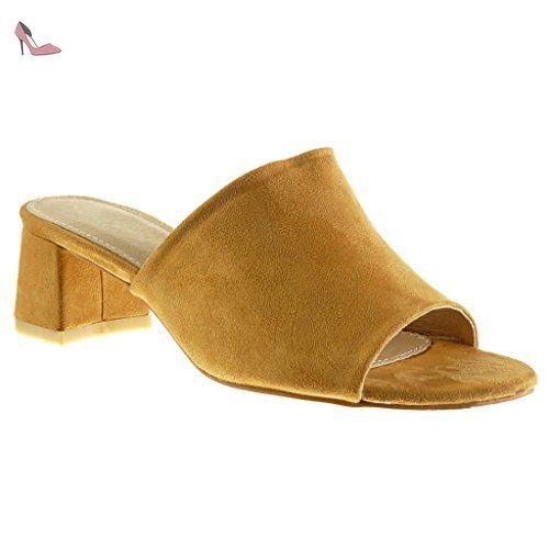c2a7b5d1157f2e Angkorly - Chaussure Mode Mule Sandale femme Talon haut bloc 8.5 CM - Vert  - XF1914 T 40 - Chaussures angkorly (*Partner-Link) | Chaussures Angkorly  ...