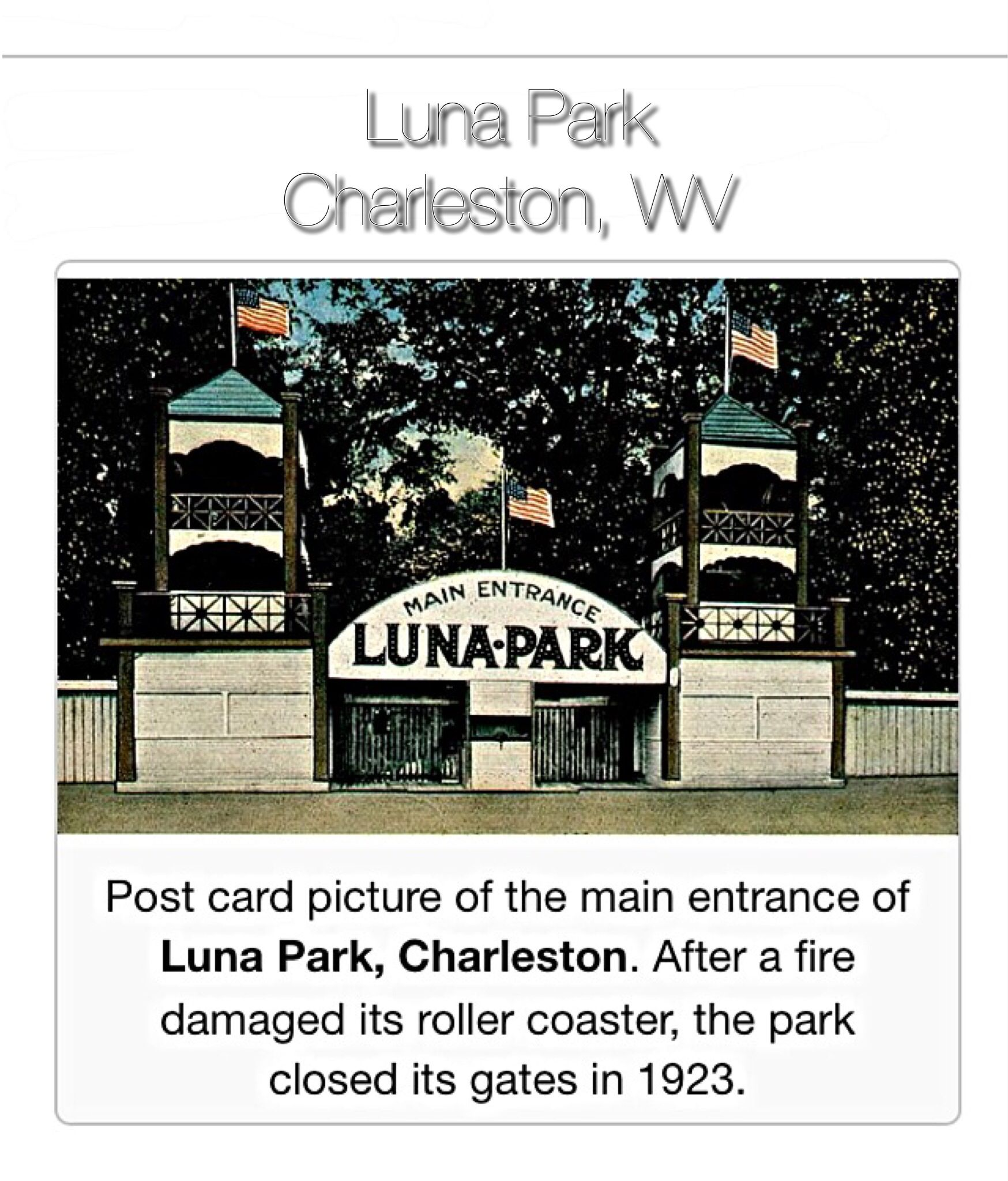 Luna Park West Side Of Charleston Wv Charleston Wv Pinterest