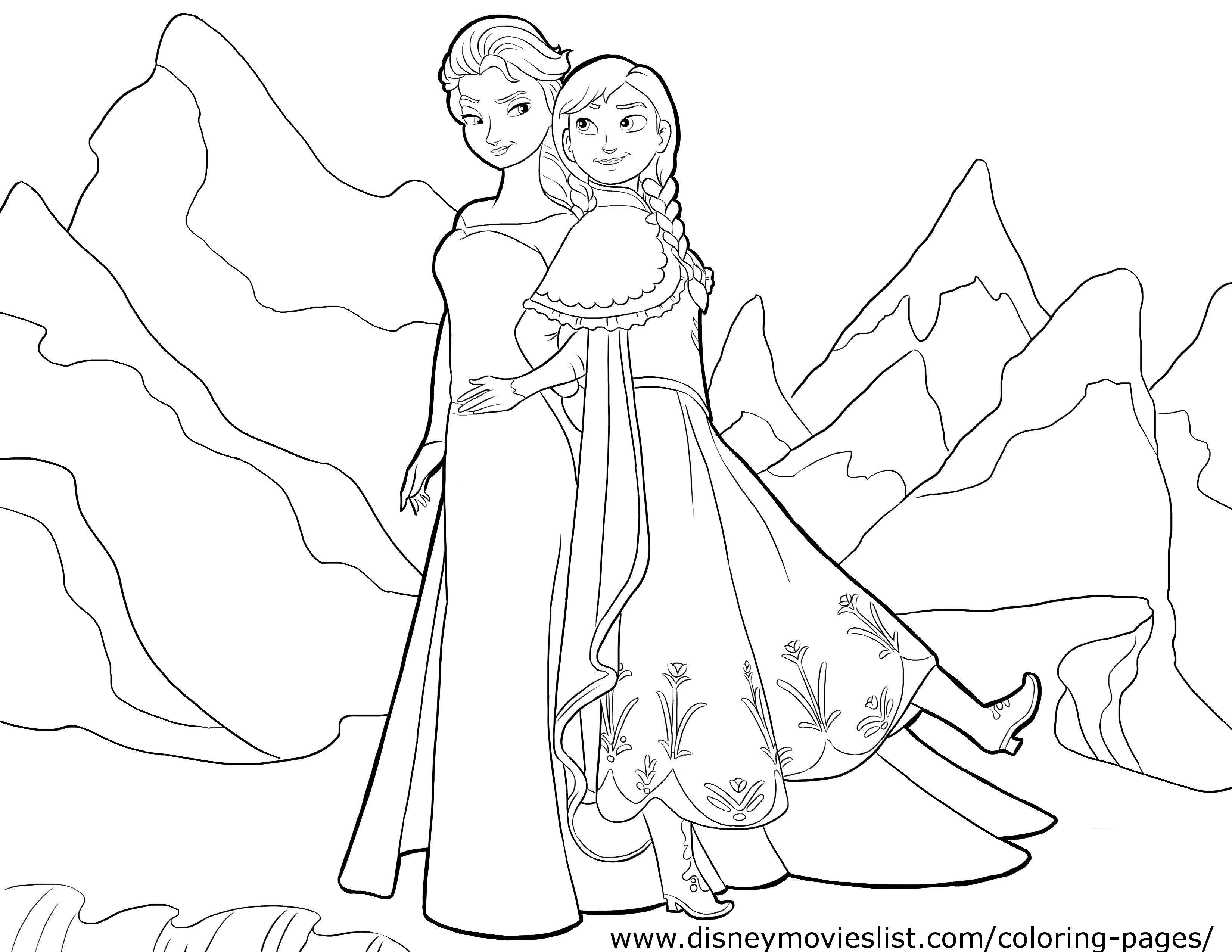 Annaelsacoloringpage Jpg 3300 2550 Frozen Coloring Frozen Coloring Pages Disney Coloring Pages