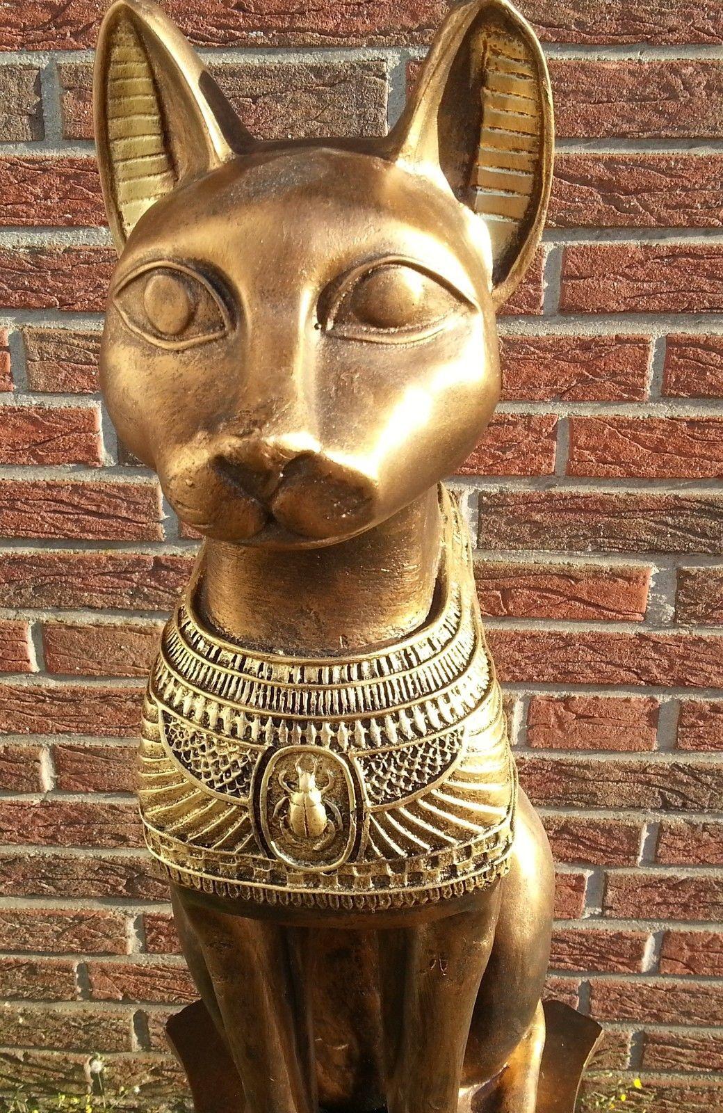 Details zu Figur ägyptische Ägypten Katze Bastet Dekofigur Figur ...