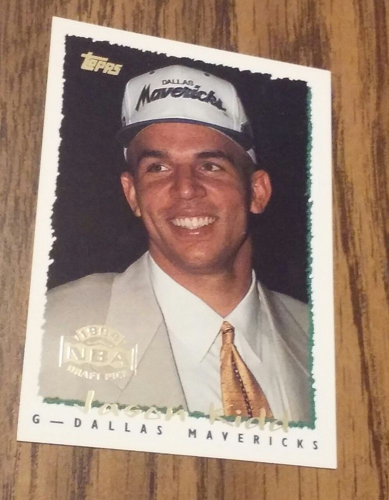 1994 Topps Jason Kidd 37 Basketball Rookie Card Dallas With Free