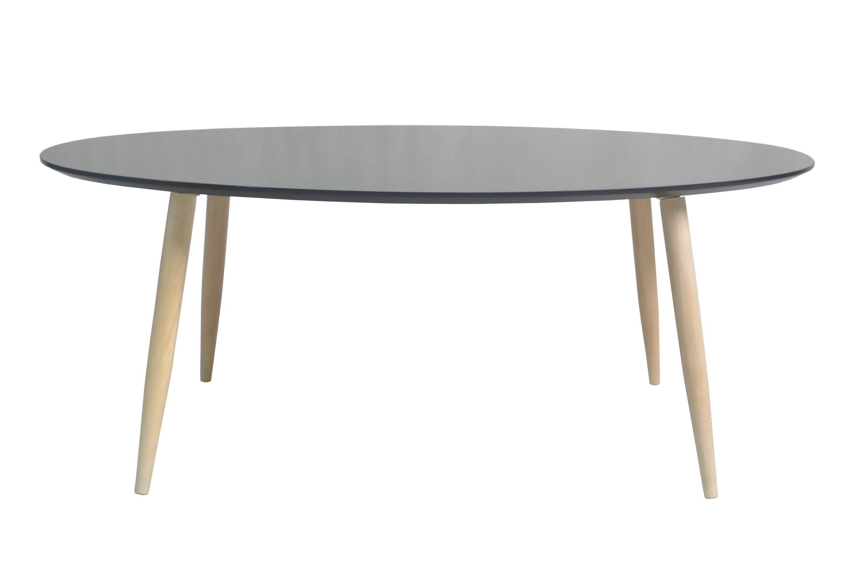 Table basse ovale MANON Blanc
