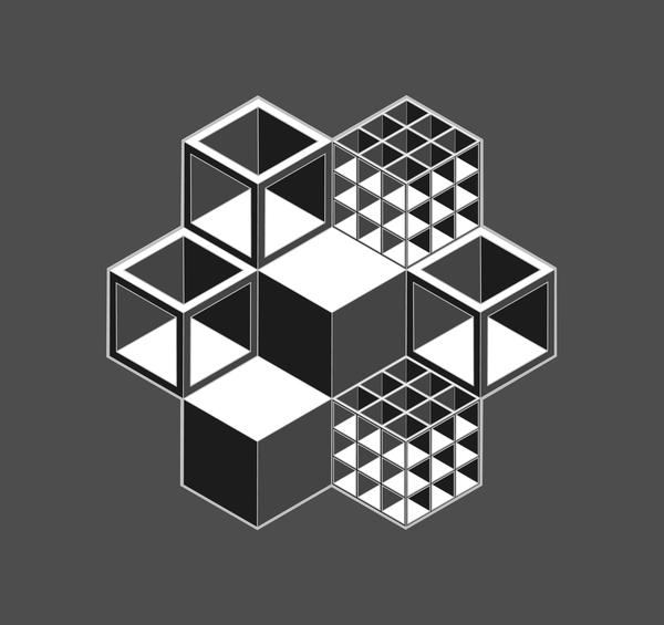 3d Cube Tessellation On Behance Tessellation Patterns Optical Illusion Quilts Hexagon Design