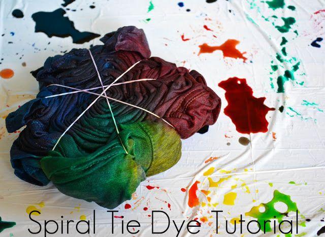 Spiral Tie Dye Tutorial #dyeingtutorials