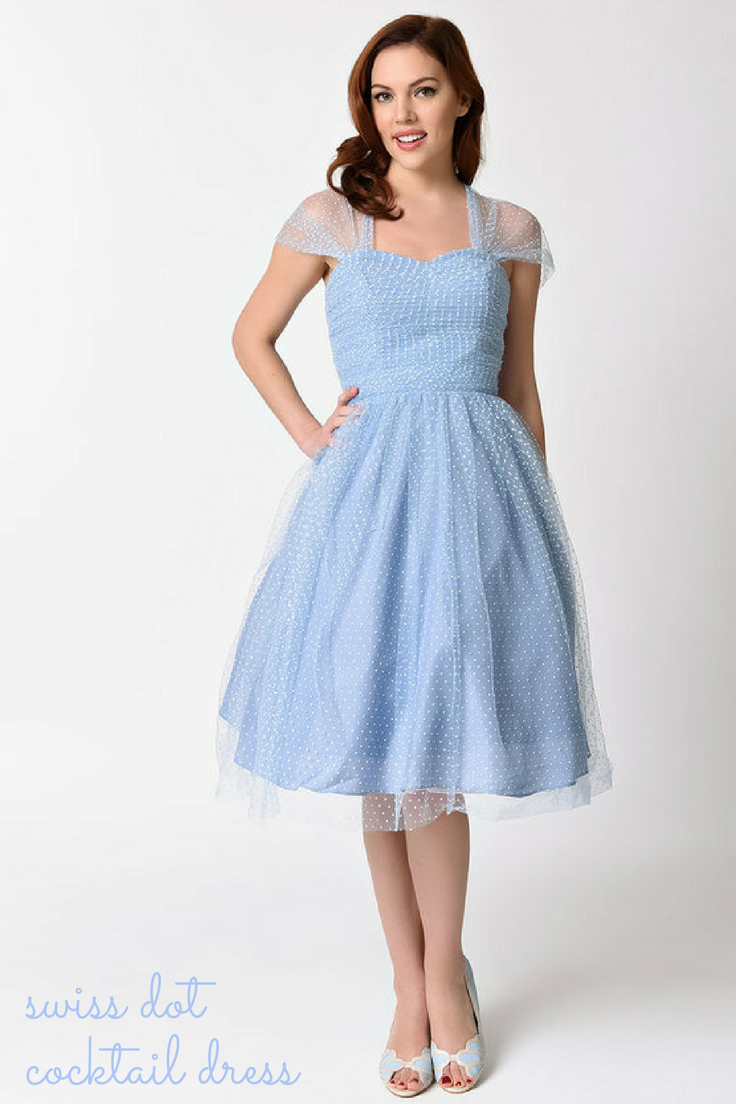 I love the chiffon cap sleeves perfect baby blue vintageinspired
