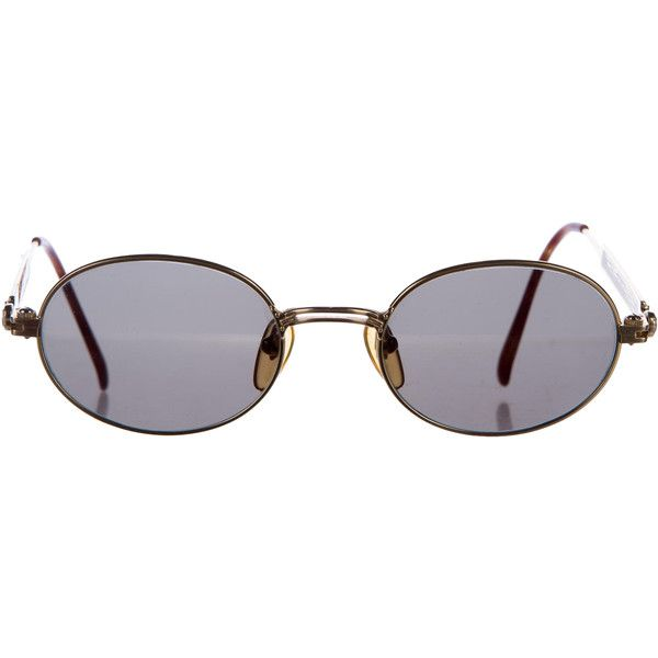 31ff242893 Pre-owned Jean Paul Gaultier Oval Mirrored Sunglasses (€180) ❤ liked on Polyvore  featuring accessories