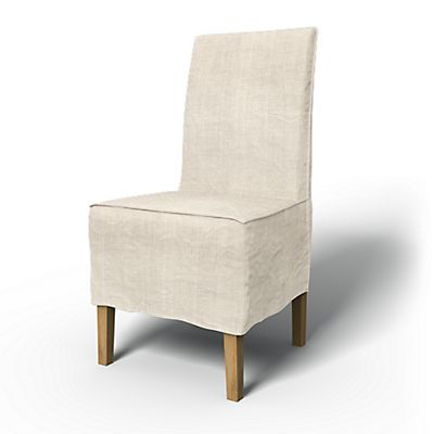 loose chair covers ikea modern wingback henriksdal cover long skirt with box pleat fit country bemz