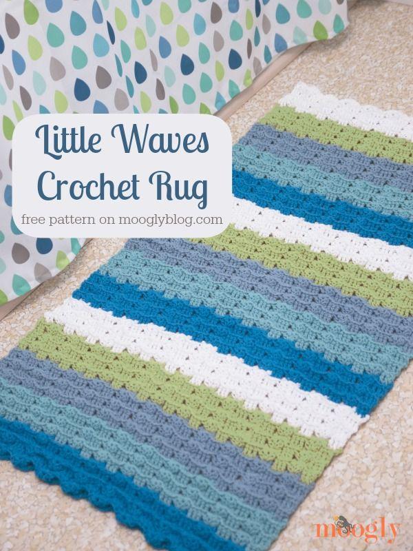 Pequeñas olas ganchillo Alfombra: Modelo #crochet Libre de ...
