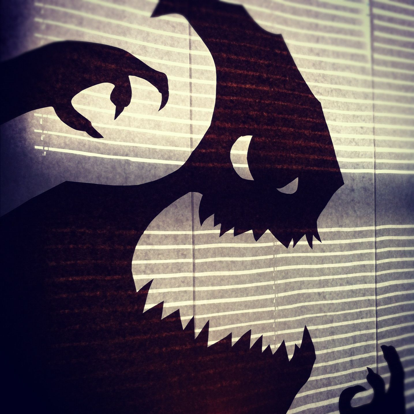 Halloween window shadownightmare before xmas! Halloween