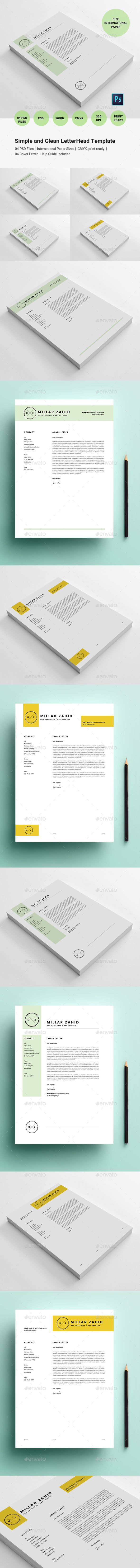 letter format on letterhead%0A Simple and Clean LetterHead Template   Letterhead template  Stationery  printing and Print templates