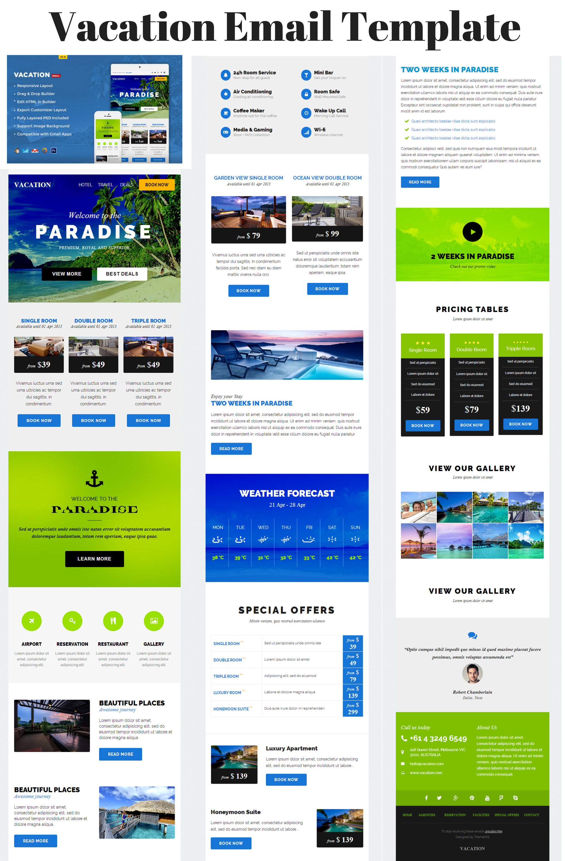 Vacation Design Pinterest Email Newsletter Design Newsletter