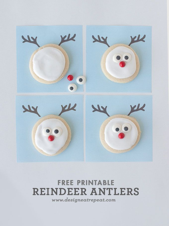 reindeer sugar cookie printable a christmas cookie decorating idea