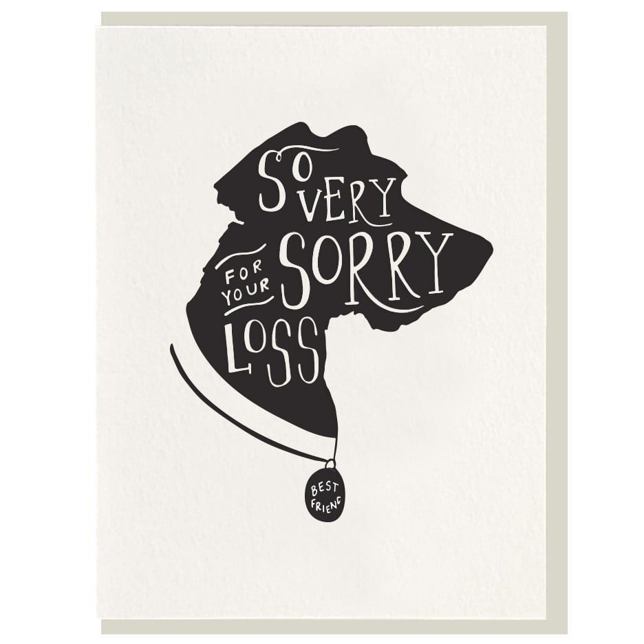Sorry For The Loss Of Your Dog Pet Sympathy Card