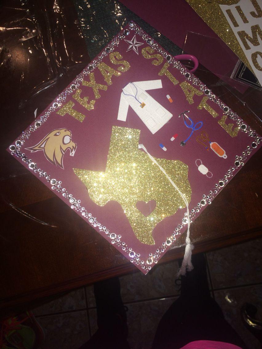 Texas state university cap DIY!