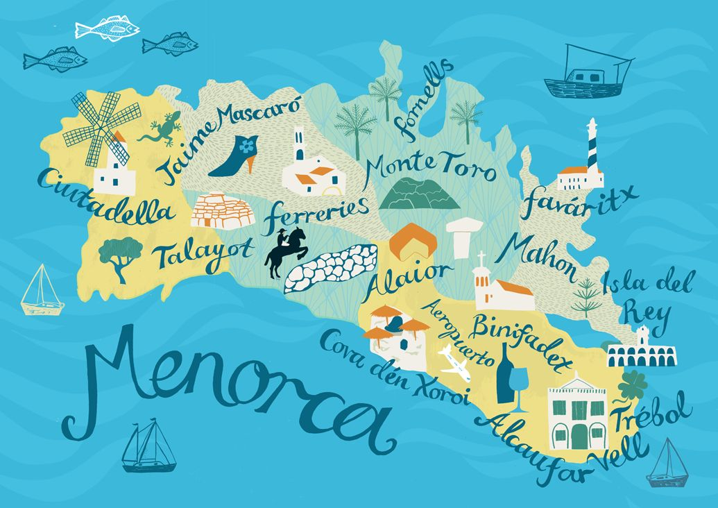 Map Illustration Www Alicestevenson Com Islas Baleares