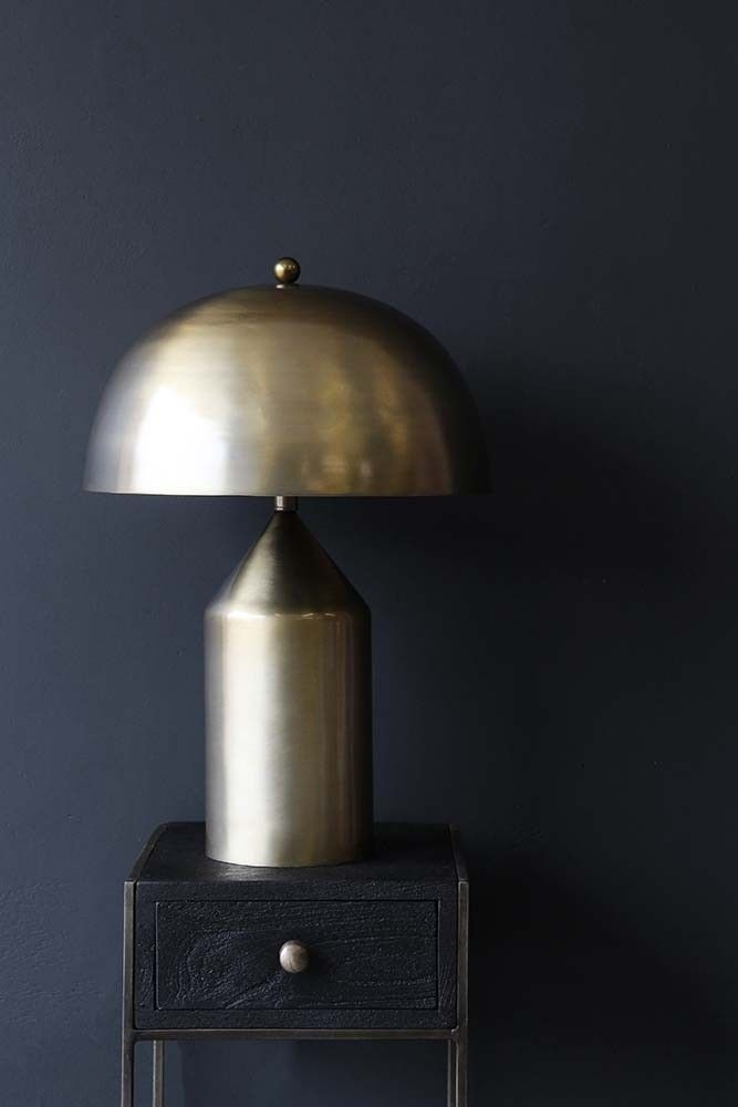 Merveilleux Gold Dome Table Lamp From Rockett St George