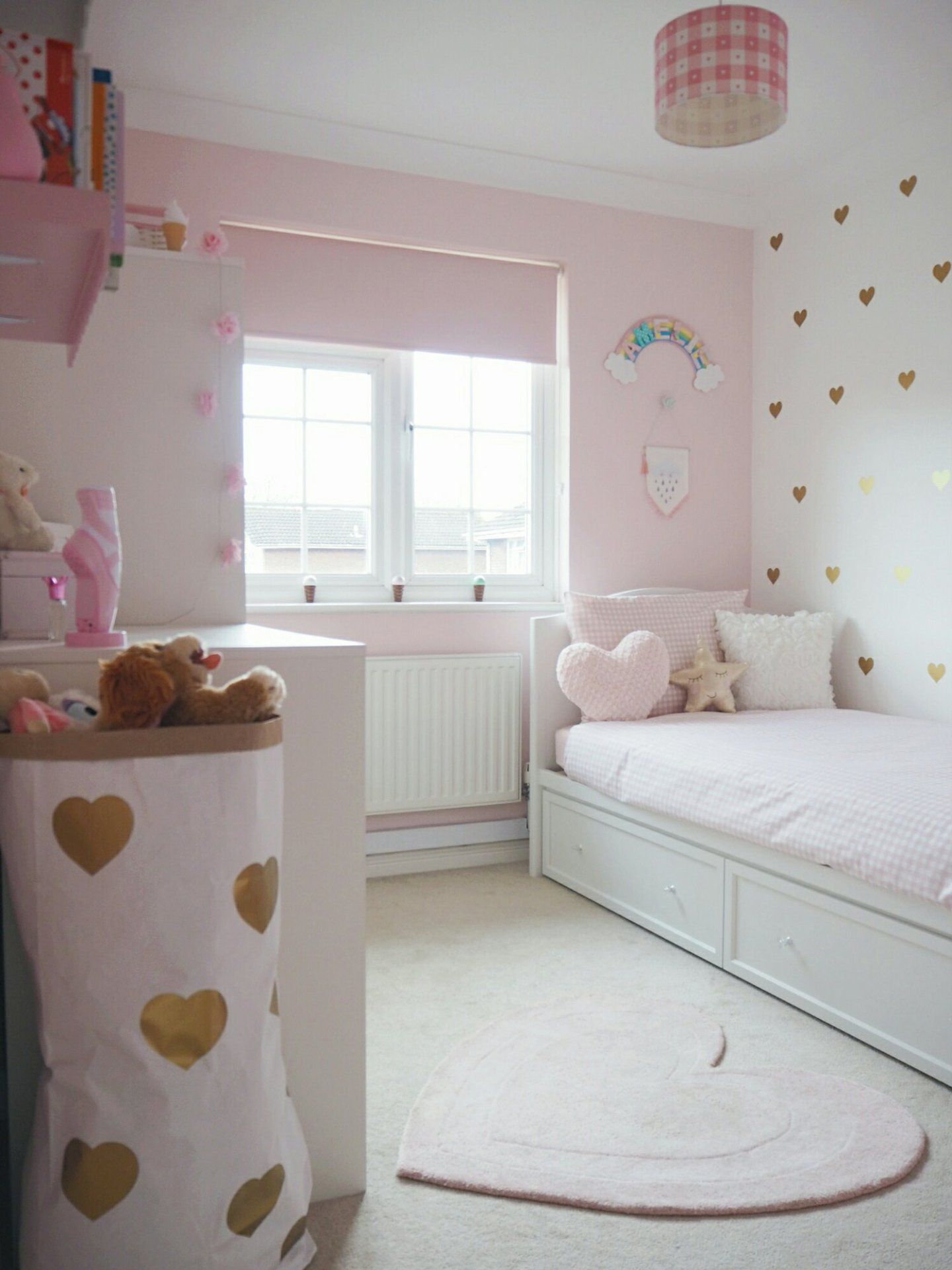 Amelie's Soft Pink and Gold Toddler Bedroom images