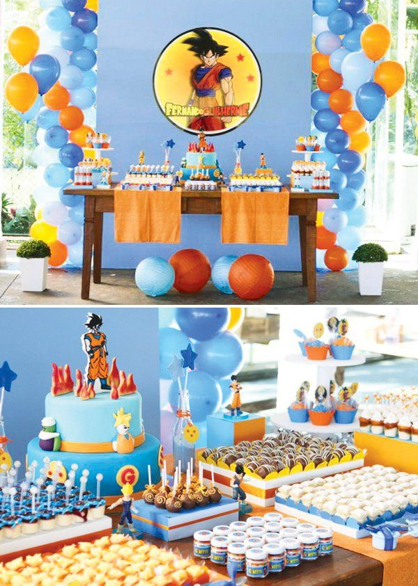 Dragon ball z party dragon ball dragons and birthdays for Dragon ball z decorations