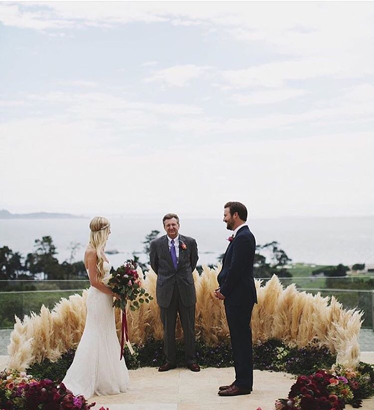 Altar Bound Wedding Dresses: @studiocastillero Of Our Pampas Grass Altar! Christine