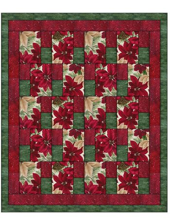 Christmas Bell Vintage Fabric Block Quilt Block