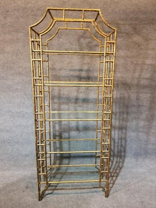 For Auction: GILT METAL FAUX BAMBOO ETAGERES (#0388) on Jun 18, 2020 | SS Auction, Inc. in NJ