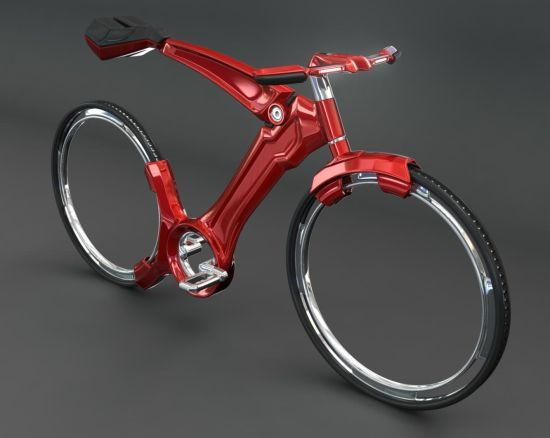 Futurist bicycle with hubless wheels looks gorgeous | Design ...