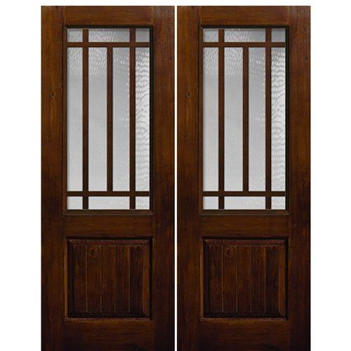 10 Lite KA Craftsman 2/3 SDL 2. Double Entry DoorsWood ...