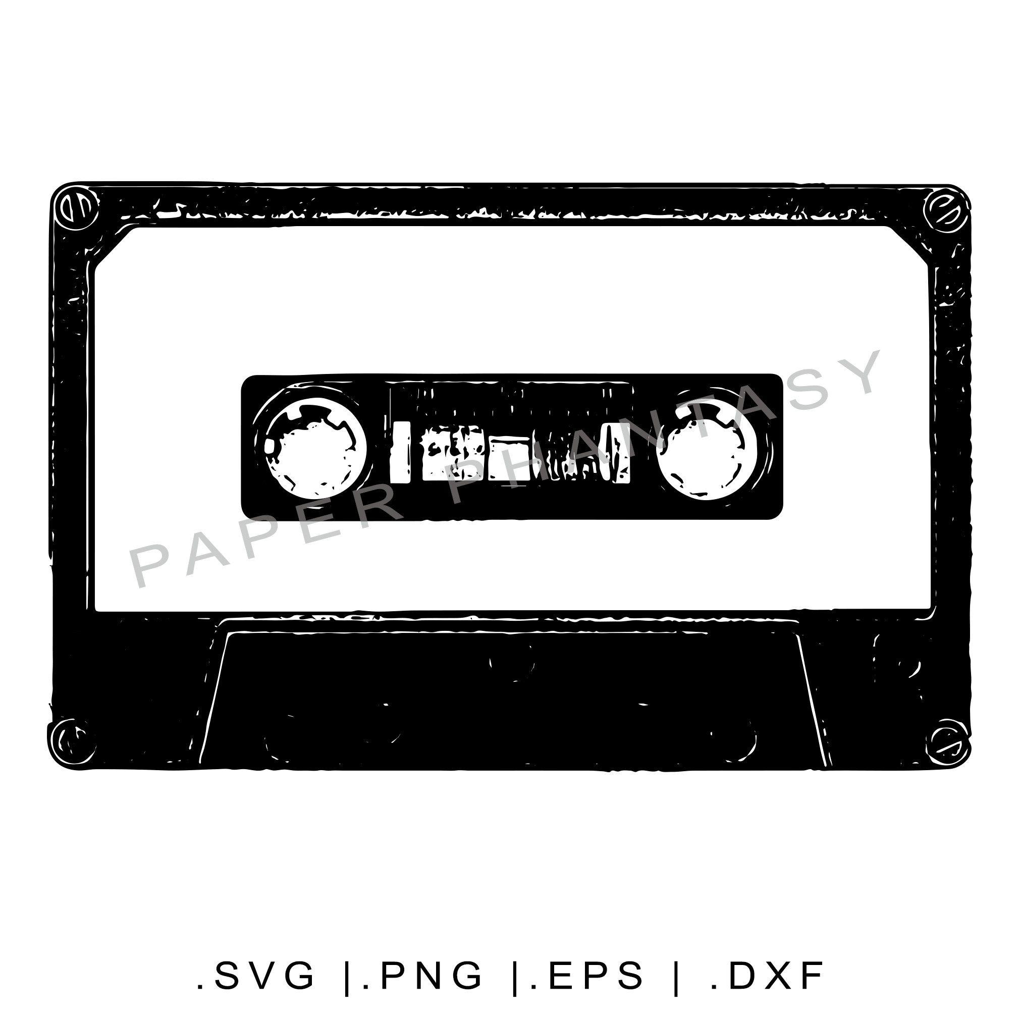 Grunge Cassette Tape SVG Vintage Realistic File For T