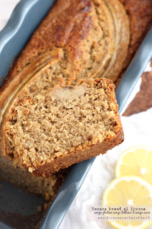 Banana bread al limone senza glutine senza lattosio e