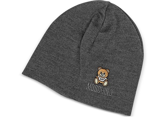 15452e33113a33 MOSCHINO Solid Wool Teddy Bear Hat. #moschino # | Moschino | Beanie ...
