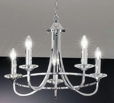 Kichler Lighting Escala 2 Light Chandelier in Polished Nickel 42037PN