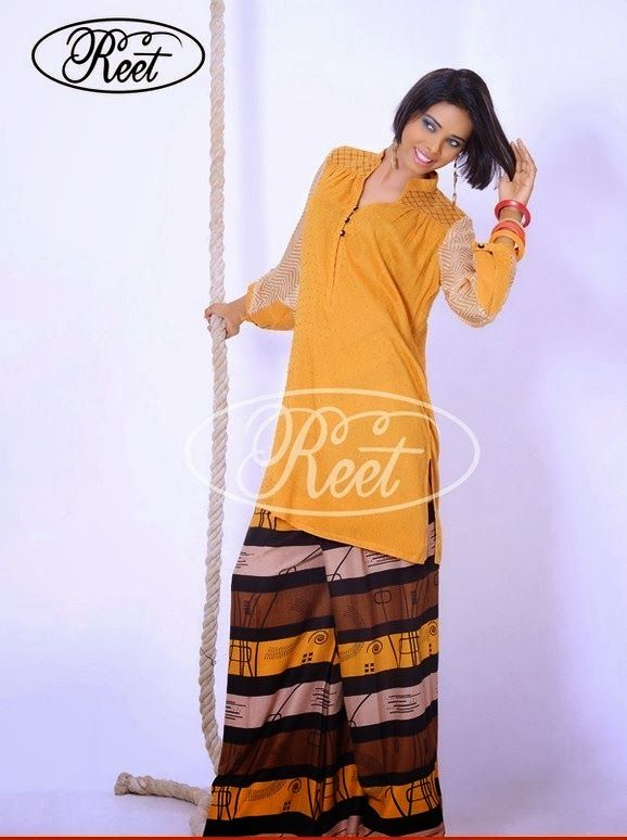 f34310caa0 Long Kurtis With Palazzo Pants - Stylesl Look!!! | Outfit ideas ...