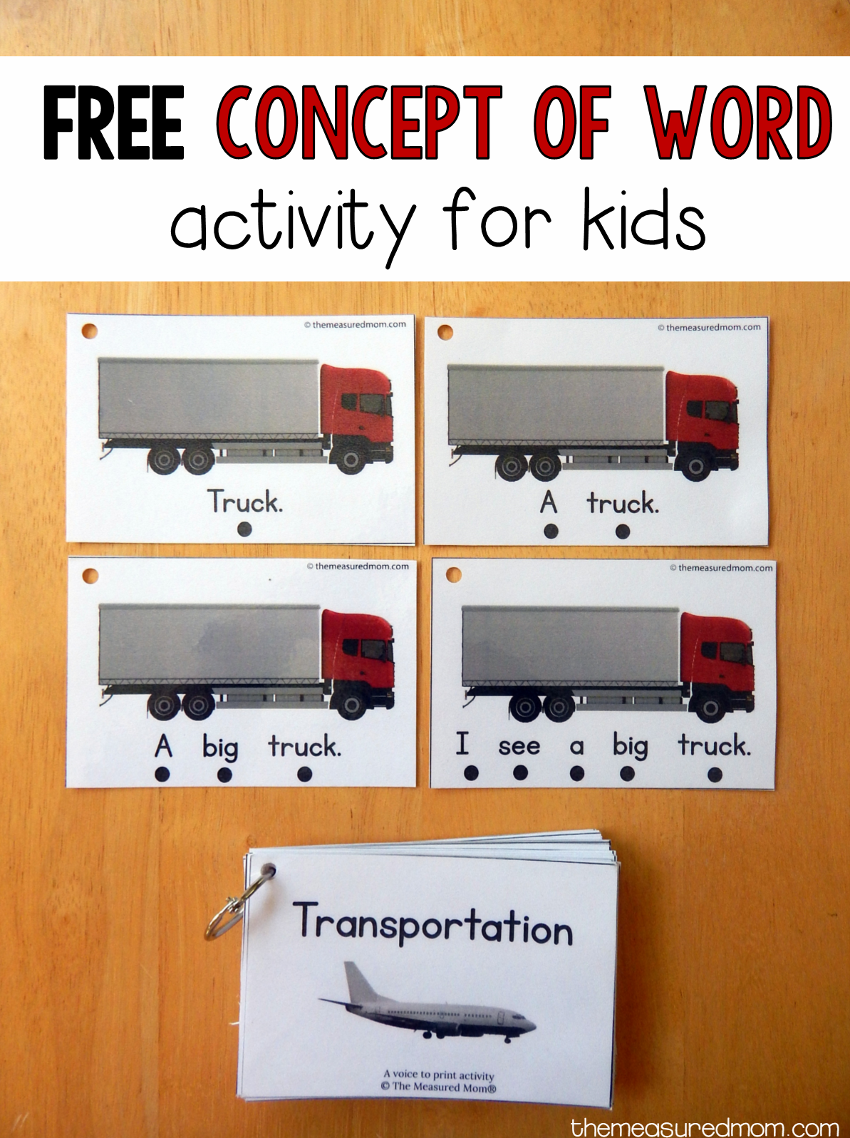 Teach Concept Of Word With This Free Printable