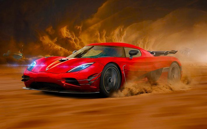 Download Wallpapers Koenigsegg Agera R Movement Supercars Red