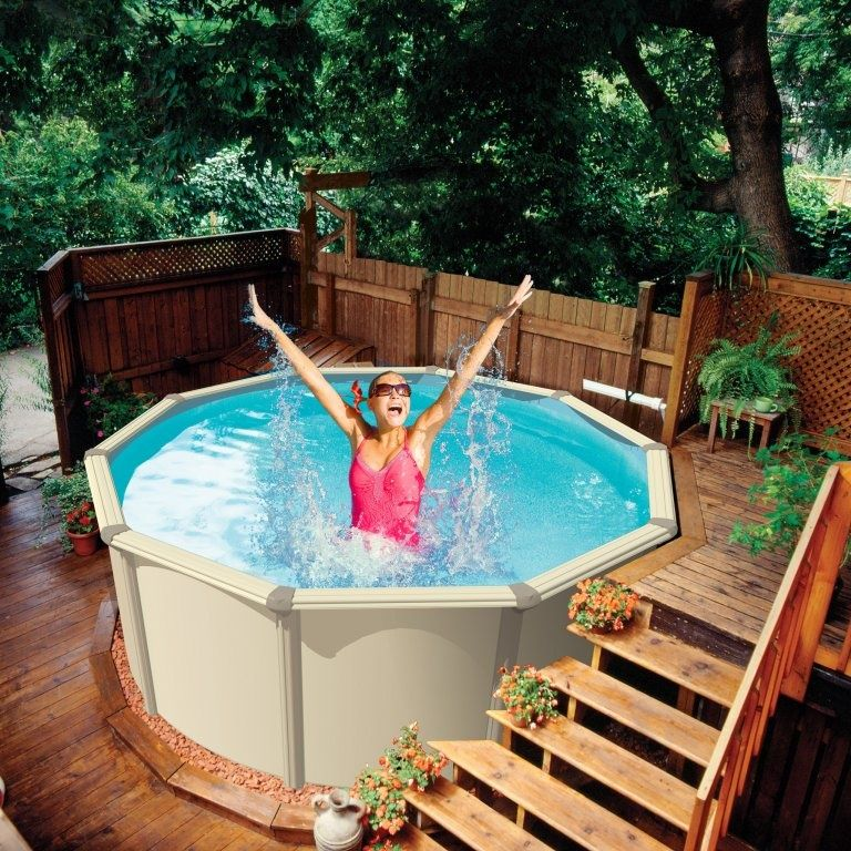 Zwembaden | Small pools backyard, Small above ground pool ...