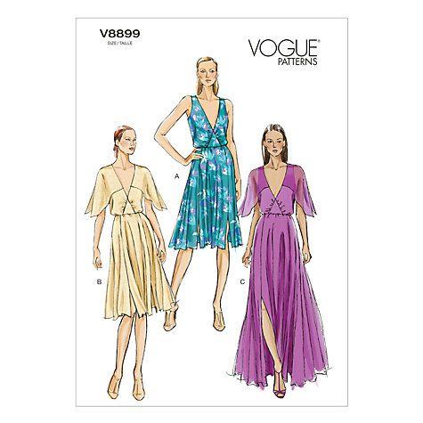 Buy Vogue Women\'s Dresses Sewing Pattern, 8899 Online at johnlewis ...