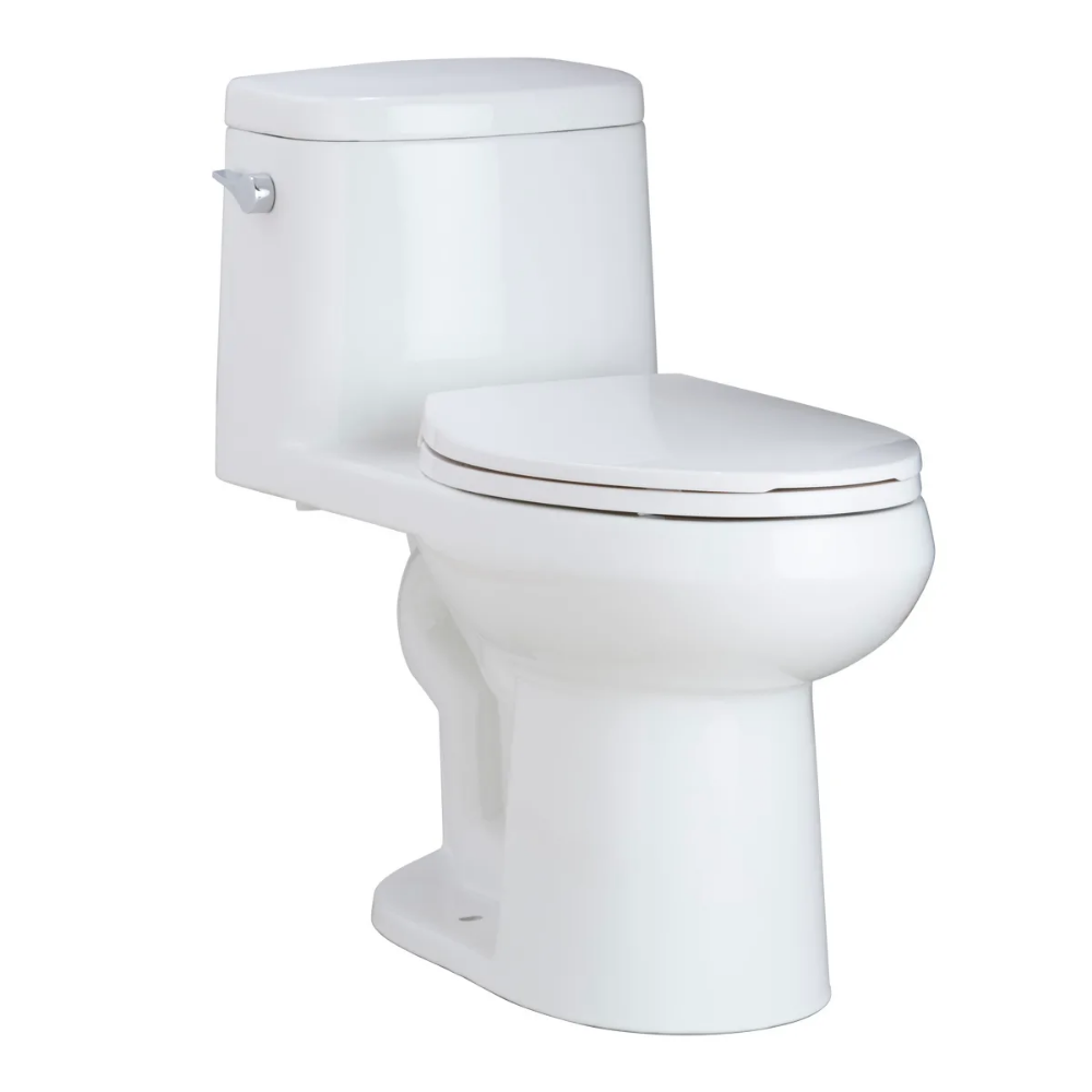 Mirabelle Mirsr241wh White 1 28 Gpf One Piece Elongated Ada Height Toilet With Soft Close Seat In 2020 Toilet Water Sense Fittings